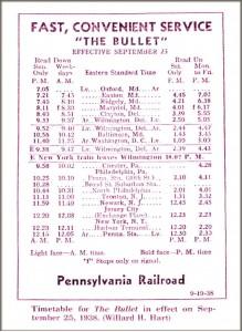 BulletTrain Schedule1938